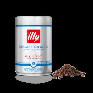 Café en grano DESCAFEINADO. Lata 250 gr.