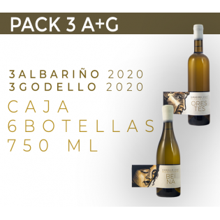 PACK 6  BOTELLAS. 3 A+G