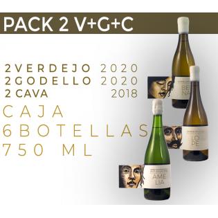 PACK 6 BOTELLAS. 2 V+G+C